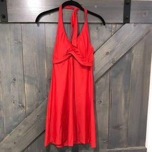 Athleta Red Halter Mini Dress Size 32 B/C